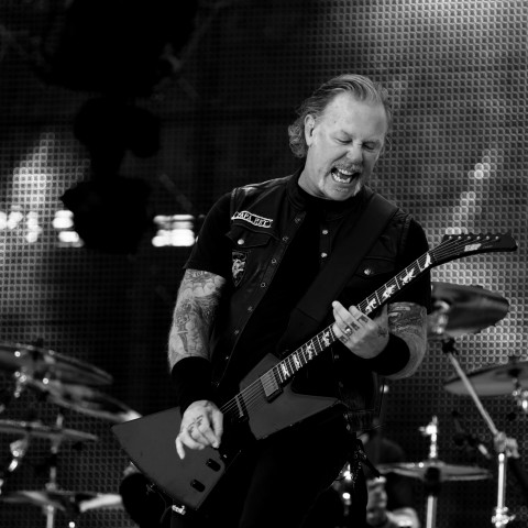 Mandatory Credit: Photo by IBL/Shutterstock (10331207d) Metallica - James Hetfield Metallica in concert at Ullevi Stadium, Gothenburg, Sweden - 09 Jul 2019